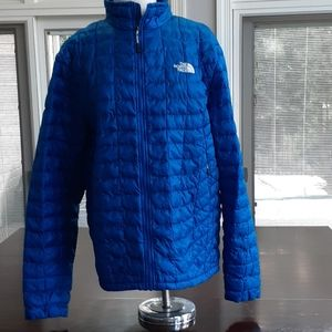 Men's Large Quilted Northface Jacket Blue